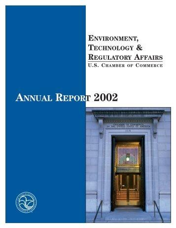 Environment, Technology & Regulatory Affairs Annual Report 2002