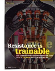 FF Journal Article On Resistance Welding Traning - T. J. Snow