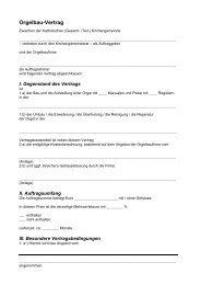 Orgelbau-Vertrag - Amt für Kirchenmusik