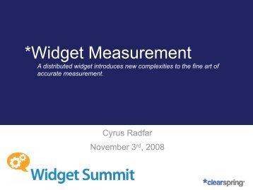 Widget Measurement - Widget Summit