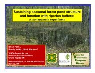 Sustaining seasonal forest pond structure and function with riparian ...