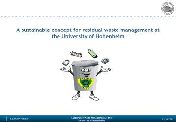 A sustainable concept for residual waste management at the ...