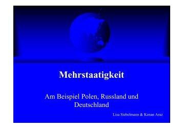 Mehrstaatigkeit in Deutschland, Polen und Russland