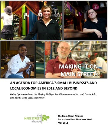 Making it on Main Street: An Agenda for America's Small Businesses ...