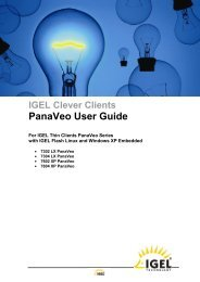 0 IGEL Clever Clients PanaVeo User Guide - public