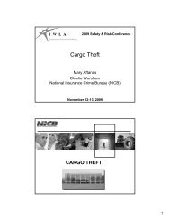 National Cargo Theft Task Force (NCTTF) - Iwla.com