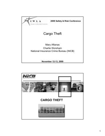 National Cargo Theft Task Force (NCTTF) - Iwla.com