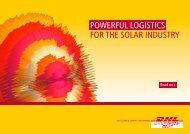 POWERFUL LOGISTICS FOR THE SOLAR INDUSTRY - DHL
