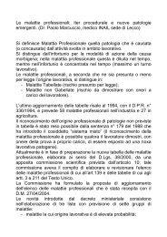 Le malattie professionali: iter procedurale e nuove ... - Asl Como