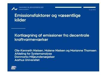 Emissionsfaktorer og væsentlige kilder - Energinet.dk