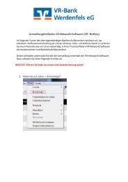 VR-NetKey - VR-Bank Werdenfels eG