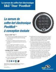 La serrure de coffre-fort électronique PivoltBolt™ à conception ...