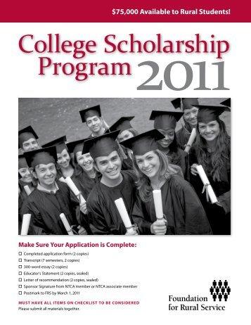 College Scholarship Program2011 - FTC