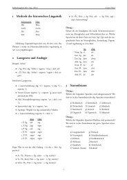 Historische Linguistik der Germanischen Sprachen