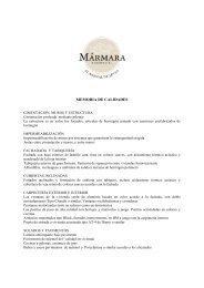 MEMORIA DE CALIDADES - Fotocasa