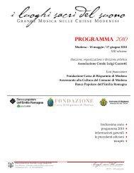 PROGRAMMA 2010 - Coro Luigi Gazzotti
