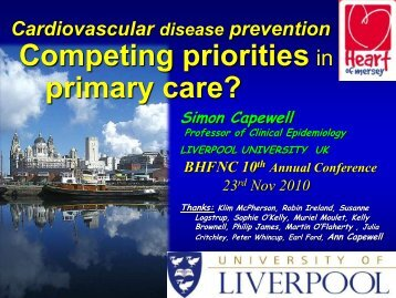 Professor Simon Capewell: 'Competing priorities in primary care'