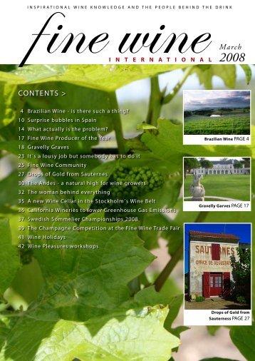 March Contents > - Fine wine magazine