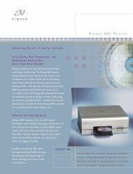 RIMAGE 480i PRINTER - Total Media, Inc.