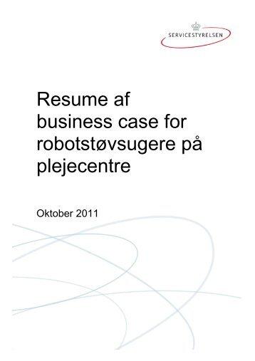 Resume af business case for robotstøvsugere på ... - Servicestyrelsen