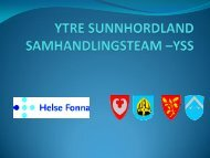 YTRE SUNNHORDLAND SAMHANDLINGSTEAM –YSS - Helse Vest