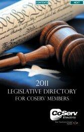 2011 Legislative Directory - CoServ.com