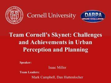Team Cornell's Skynet - Field Robotics Center