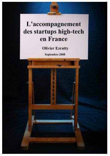 Accompagnement des startups high-tech en France - Olivier Ezratty