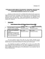 Annexure - III GUIDELINES ON EMOLUMENTS FOR RESEARCH ...