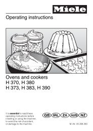 Operating instructions Ovens and cookers H 370, H 380 H 373, H ...
