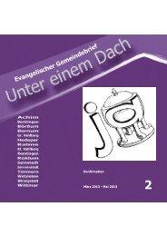 Konfirmation März 2013 - Mai 2013 - Kirche Börßum