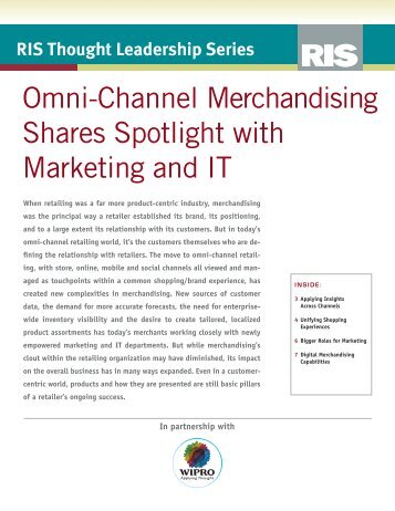 Omni-Channel Merchandising Shares Spotlight with Marketing and IT