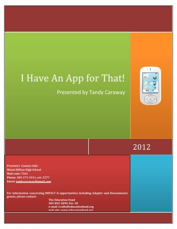 I Have An App for That! - The Education Fund