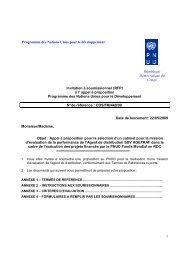 1 Invitation à soumissionner (RFP) à l' appel à ... - mediacongo.net