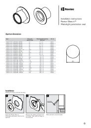 Installation instructions Roxtec Sleev-it™ Watertight penetration seal