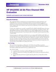 Demartek Report: HP SN1000E 16GFC HBA Evaluation - Emulex