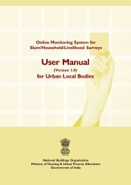 User Manual - Ministry of Housing & Urban Poverty Alleviation