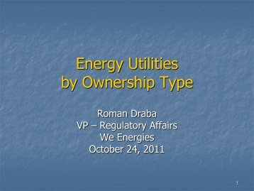 Energy Utilities by Ownership Type - Wisconsin Public Utility Institute
