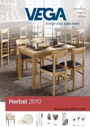Herbst 2013 - Vega Vertrieb von Gastronomiebedarf GmbH