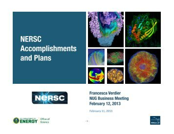 NERSC-‐8 - National Energy Research Scientific Computing Center
