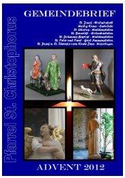 Advent 2012 - Katholische Pfarrei St. Christophorus - Haldensleben