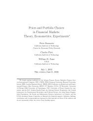 Prices and Portfolio Choices in Financial Markets: Theory ...