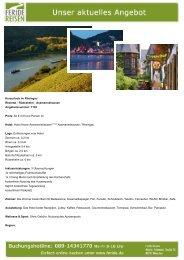 Kurzurlaub im Rheingau - Eventreisen - Trierischer Volksfreund