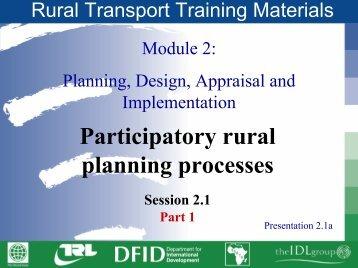 Rural Transport Training Materials CD-ROM. Module 2 - World Bank