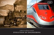 EVOLUTION OF ENGINEERING student excellence awards