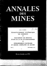 M: - Ecole de Mines de Paris, Centre de Géostatistique