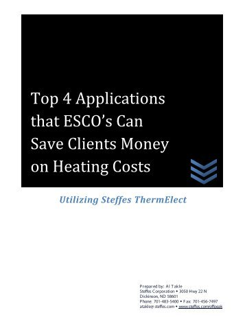 Top 4 Applications that ESCO's Can Save Clients Money on Heating ...