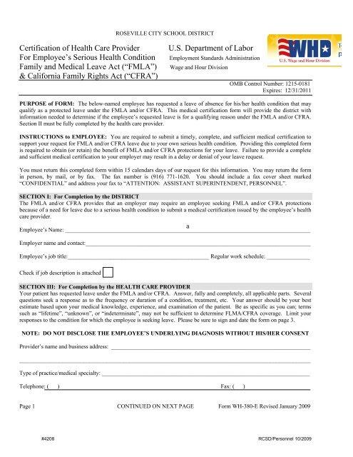 Wh 380e Certification Of Health Care Provider No 4208