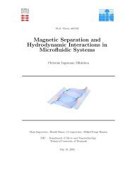 Magnetic Separation and Hydrodynamic Interactions in Microfluidic ...