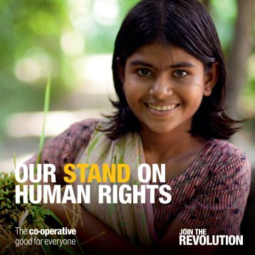 OUR STAND ON HUMAN RIGHTS - The Co-operative